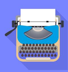 Typewriter icon flat style vector