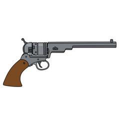 Vintage long revolver vector