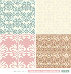Vintage ornamental backgrounds set wedding style vector image