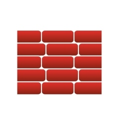 Wall bricks isolated icon vector