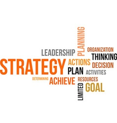 word cloud strategy vector image