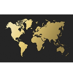 World map gold earth blank empty globe vector image