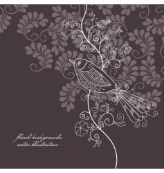 bird background vector image vector image