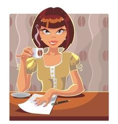 coffe vector image vector image