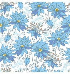 Heavenly flowers seamless pattern background vector image vector image