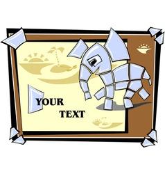 mosaic elephant running vector image vector image