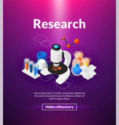 research poster of isometric color design vector image