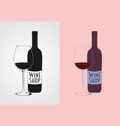 wine logo concept badge or label vector image