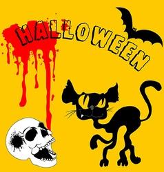 black Halloween vector image