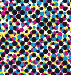 cmyk halftone dot pattern vector image vector image