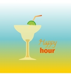 Happy hours with cocktail vector image