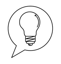 speech bubble with bulb light vector image
