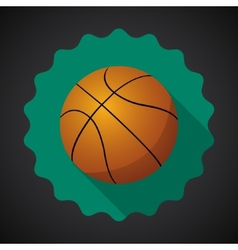 Sport ball basketball flat icon background vector