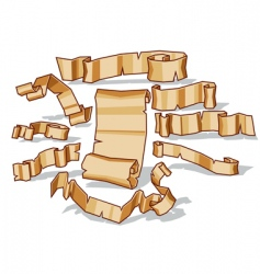 ancient scroll set vector image vector image