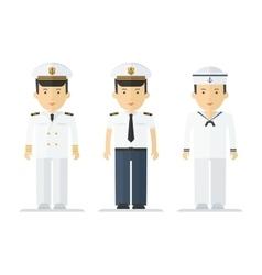 profession sailor mans suits vector image vector image