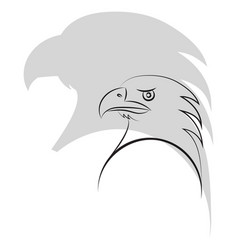 simple outline of an eagle head minimalism vector image