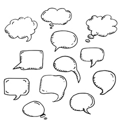 trendy message or chat icon or bubble vector image vector image