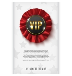 VIP background with realistic award ribbon vector image
