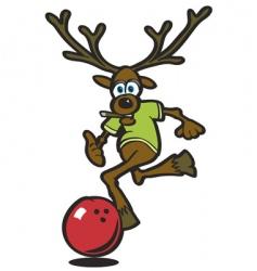 elk bowling vector image vector image
