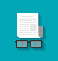 Paper Business Document and Eyeglasses vector image
