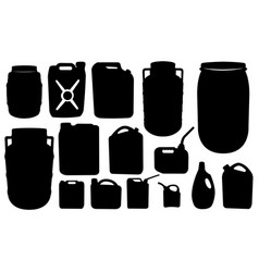 set of barrels and canisters vector image vector image
