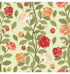 Wallpaper with roses vector image vector image