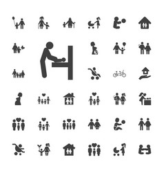 33 mother icons vector