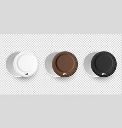 3d realistic disposable empty paper coffee vector image