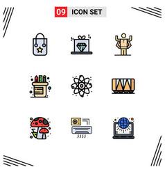 9 user interface filledline flat color pack vector