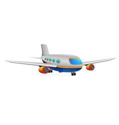 a commercial plane on a white back vector image
