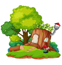 a fantasy land on white background vector image
