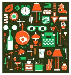 A set of household items vector image