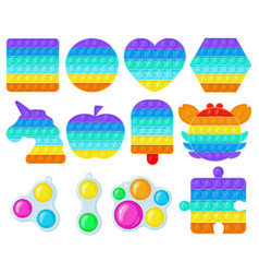 antistress pop it and simple dimple toys trendy vector image