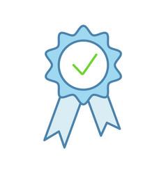 award medal color icon vector image
