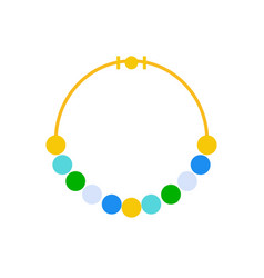 Bead or mala necklace jewelry related icon flat vector