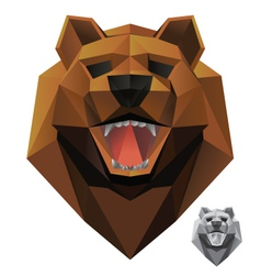 Bear-head-front vector