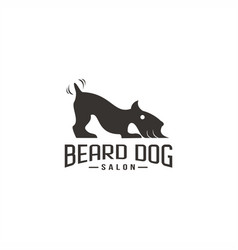 beard dog salon logo vector image