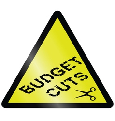 budget cuts vector image