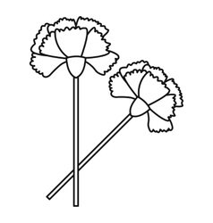 Carnation icon outline style vector image