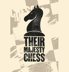 Chess typographical vintage grunge style poster vector