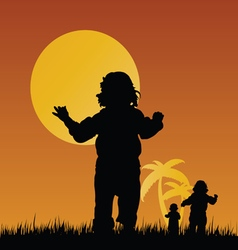 Children in nature vector