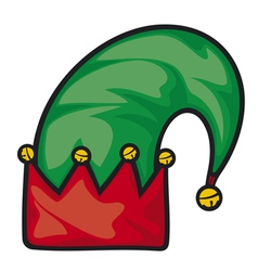 christmas elf hat vector image