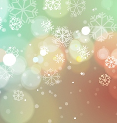 Christmas Lights with Snowflakes Vintage vector
