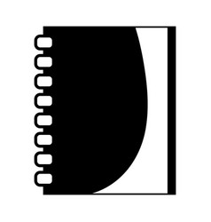 Contour notebook papers object design to write vector