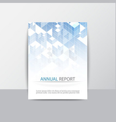cover report business colorful blue triangle vector image