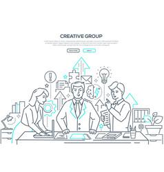 Creative group - modern line design style web vector
