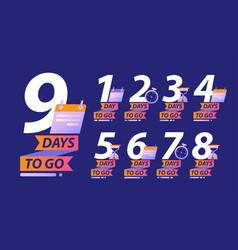 Days to go or calendar countdown concept vector