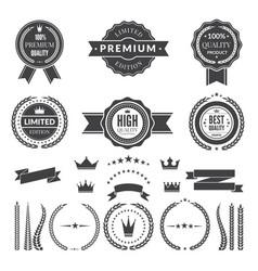 design template premium badges or logos vector image