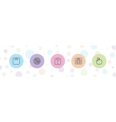 Dieting icons vector