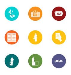 discrimination icons set flat style vector image